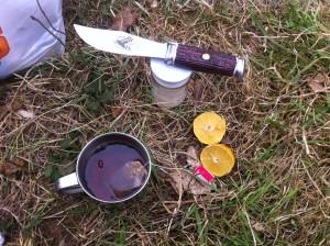 Horký čaj jsme po ránu ocenili všichni.